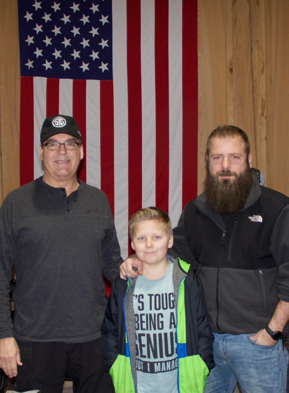 Stan Garrett, Ethan Maynard and Cody Maynard of Garrett's Outdoor Supplies