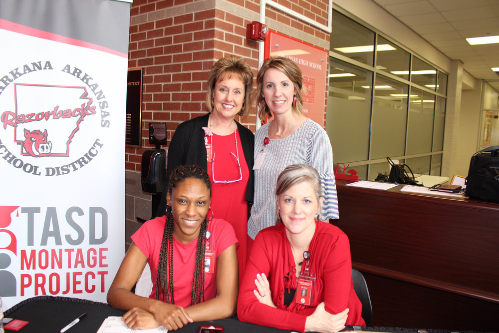 (front row) Courtney Blair and Jamie Harris; (back row) Dena Youngblood and Stephanie Adcock