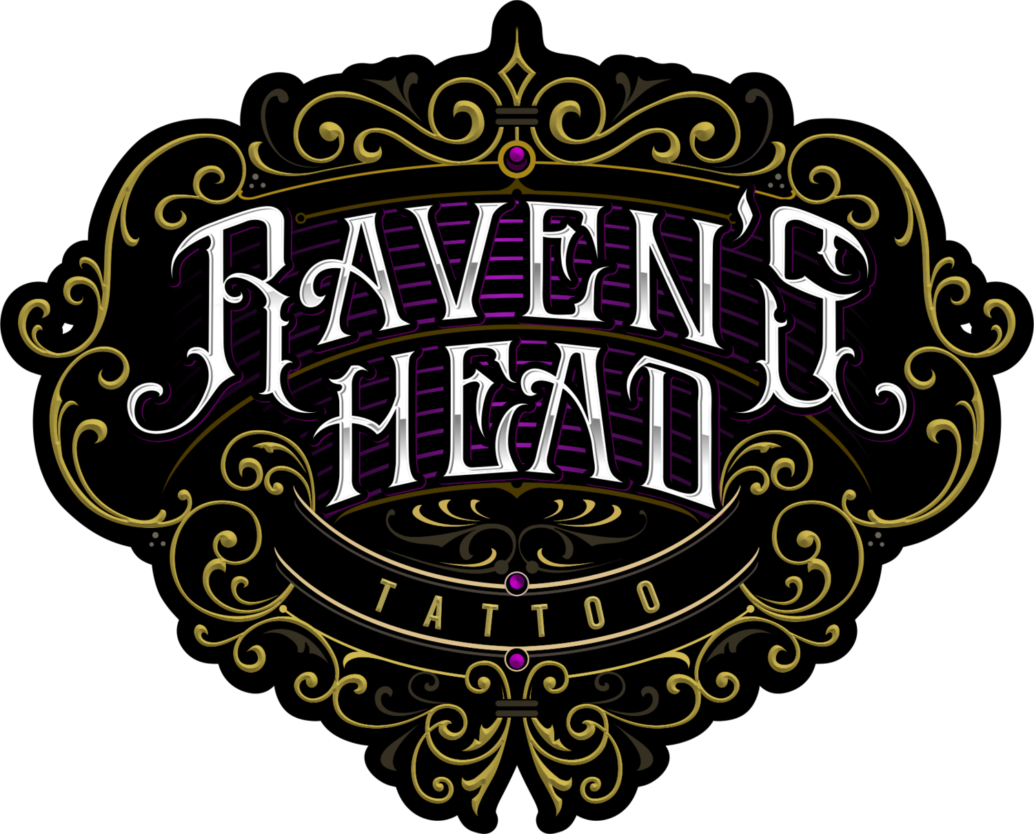 Raven's Head Tattoo