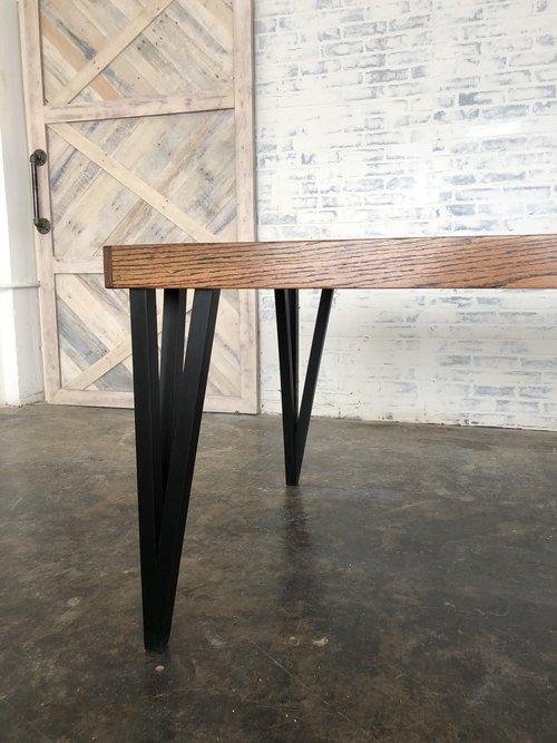 MidCentury Modern Oak Dining Table DMHwoodwork - Mid century oak dining table