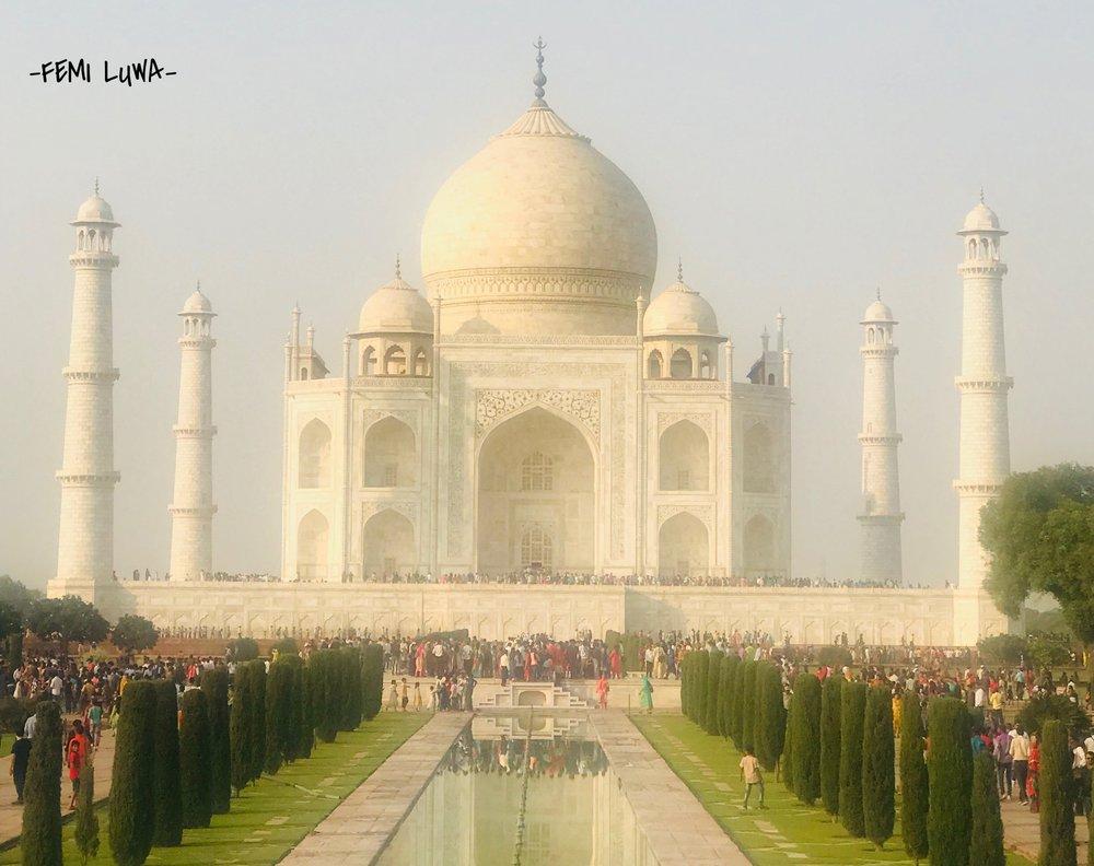 The Taj Mahal, the first World Wonder I ever saw.  Agra, India. Oct 2017