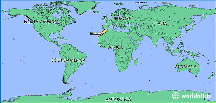 Where in the world is Morocco?  Source: World Atlas