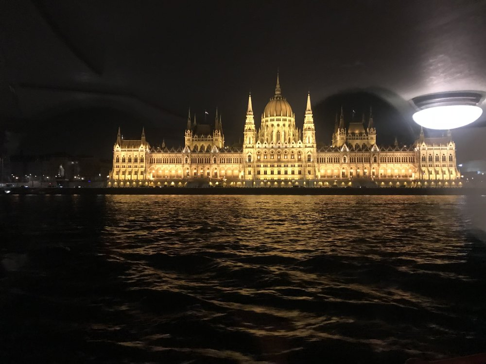 View of the Parliament Building from the cruise ship. How majestic is it?  Budapest | March 2018