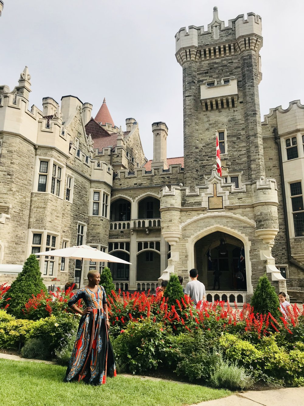 The entrance to Casa Loma looks like something out of a story book!