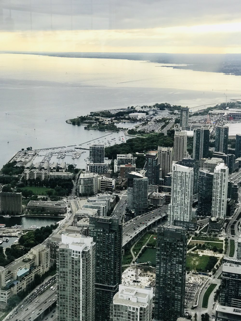 Views from the CN Tower.