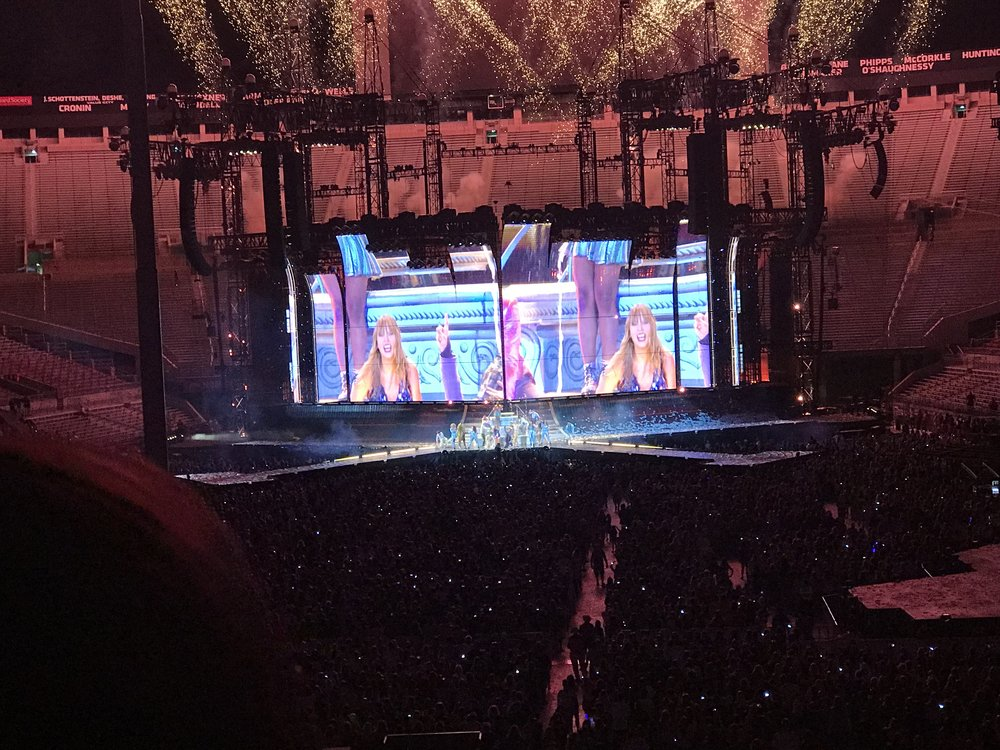 In July we went to see Taylor Swift...