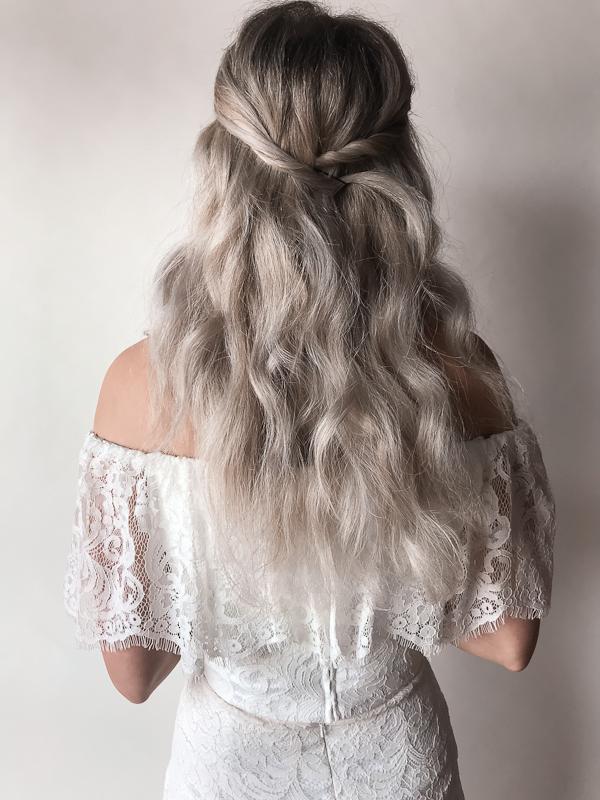 Bridal Hairstyle for medium length hair