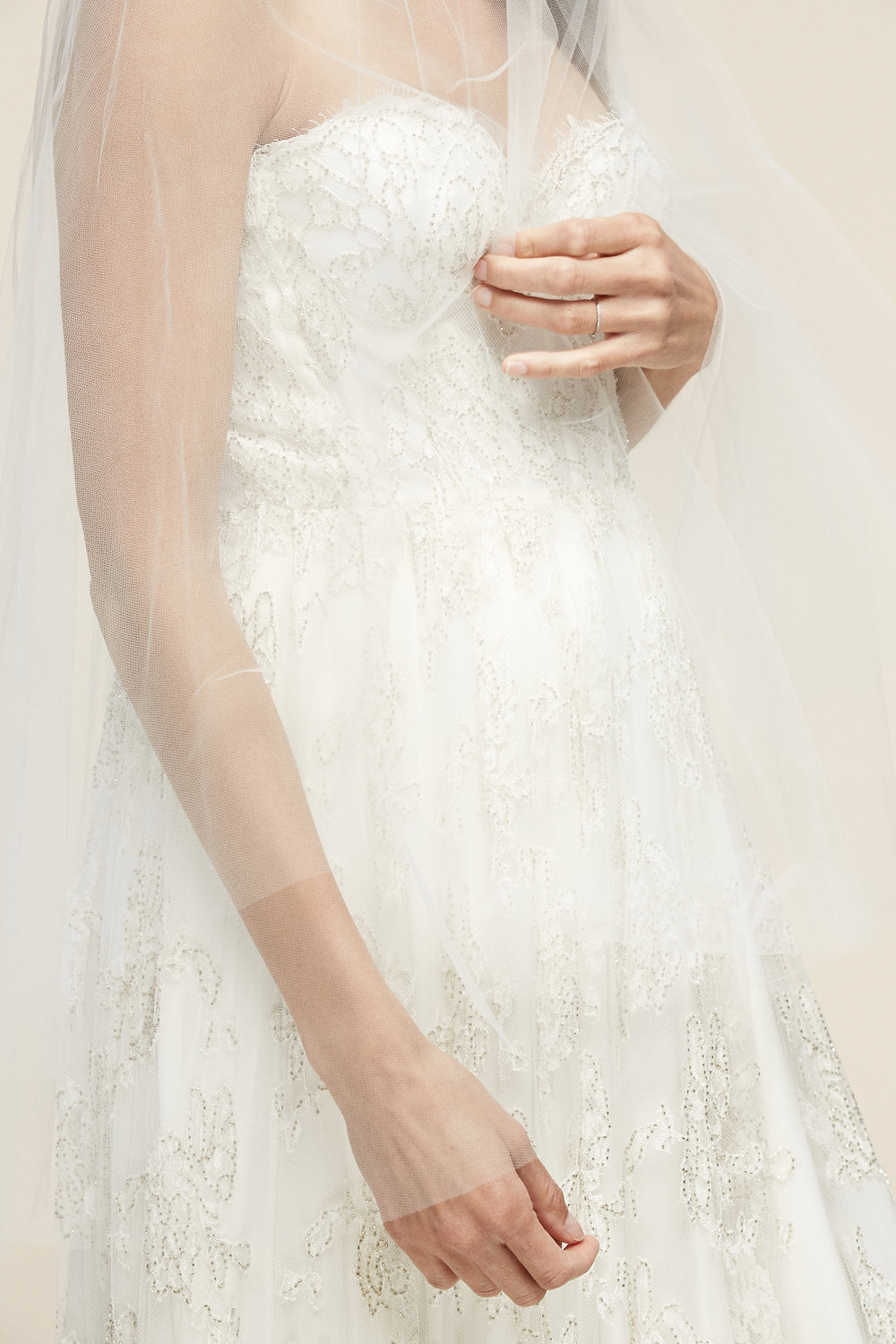 Rebecca Veil    Details- Two-tier, circle cut, raw edge veil  Available in all colors and lengths