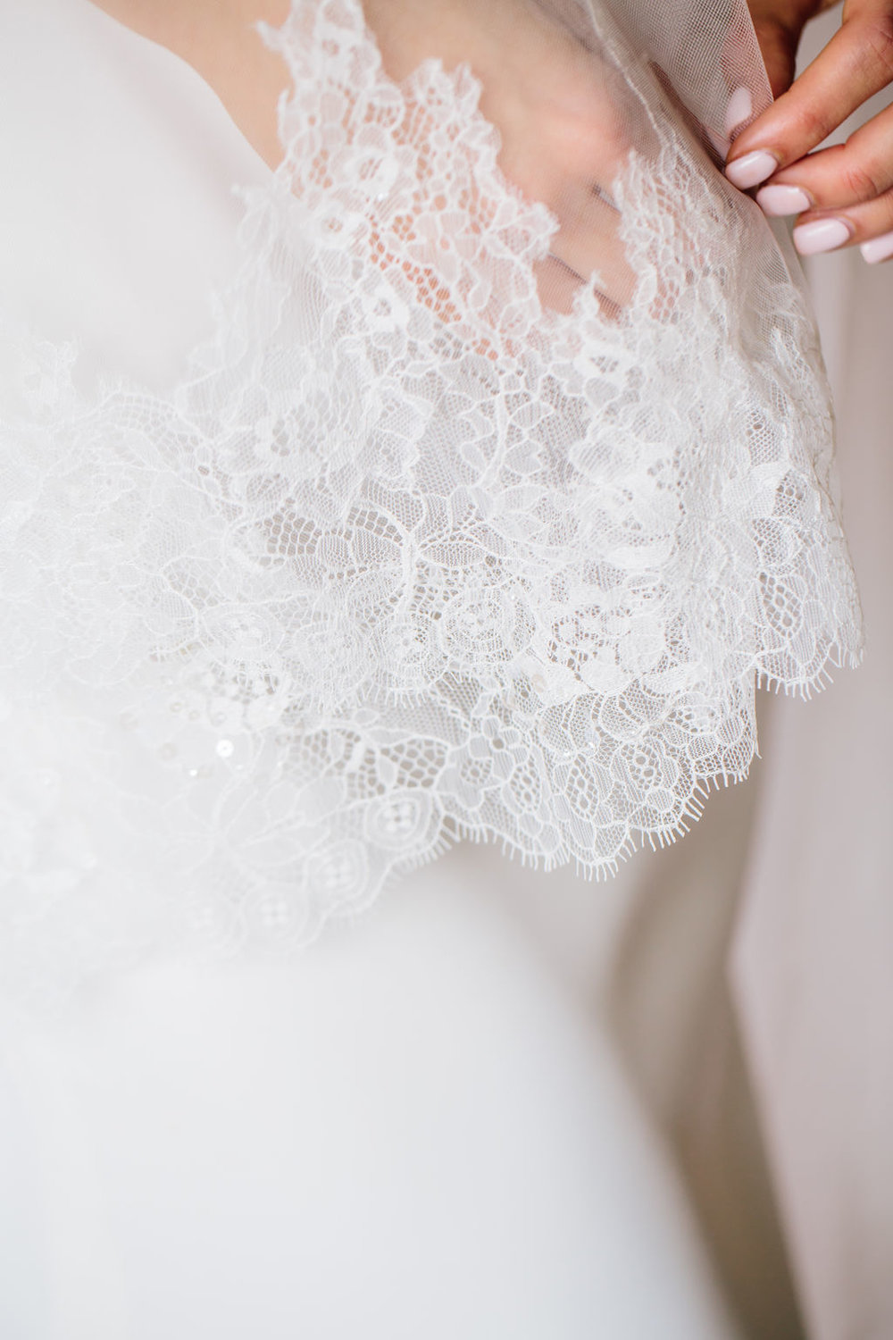 Amelia Veil   Details: Circle cut veil with Chantilly lace detailing all the way around  Cathedral only $598