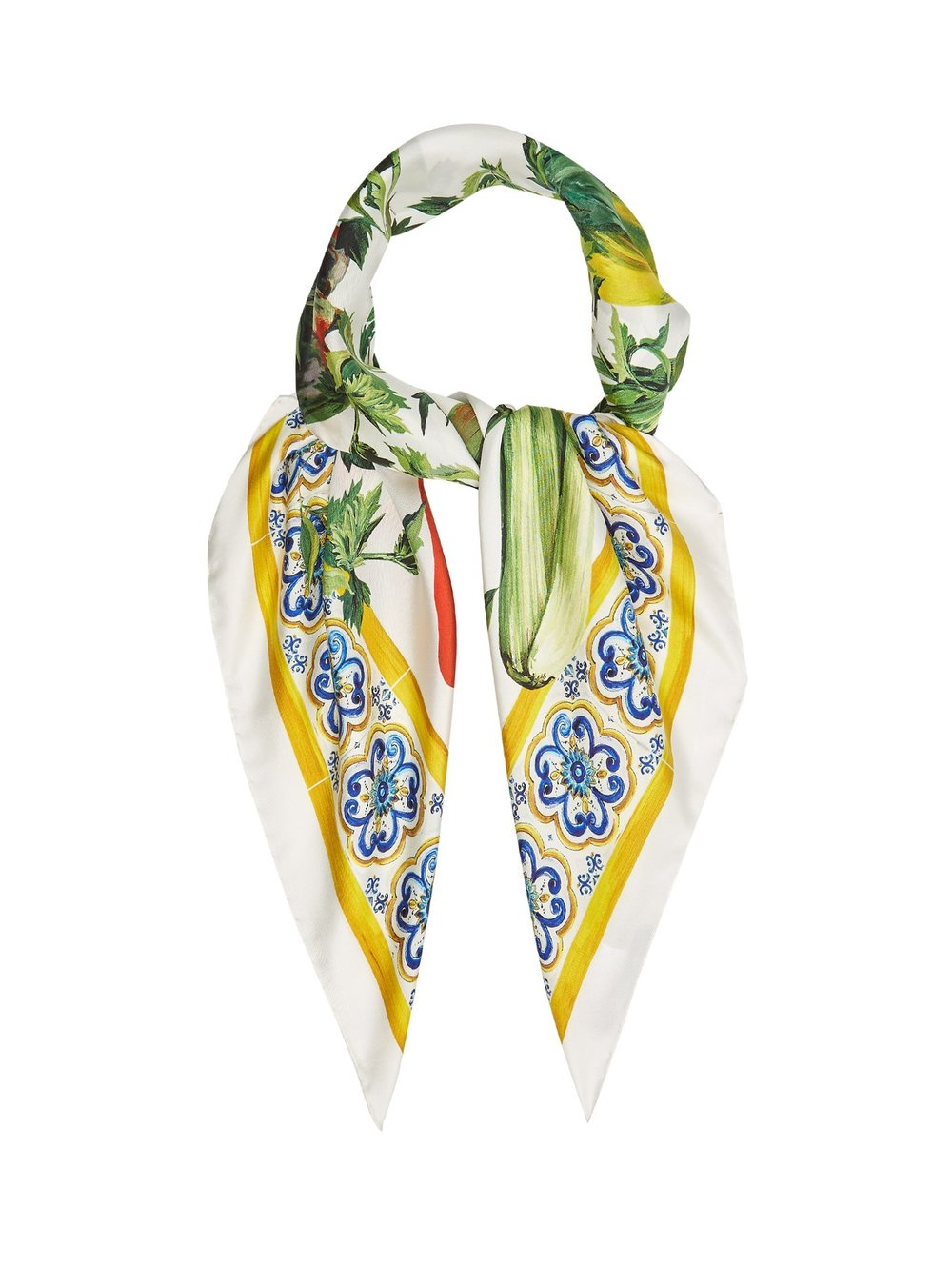 Silk scarf, £295 by Dolce & Gabbana at Matches