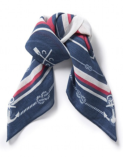 Cotton scarf, £15 by Crew Clothing