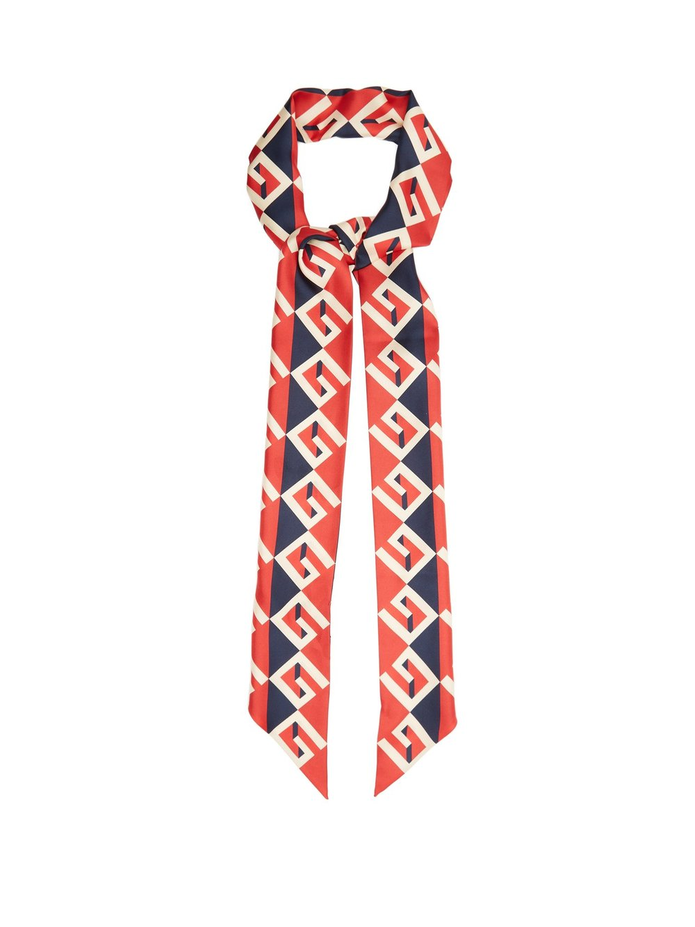 Silk scarf, £225 by Gucci at Matches