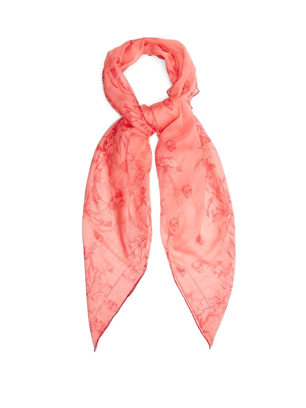 Silk scarf, £325 by Alexander McQueen at Matches