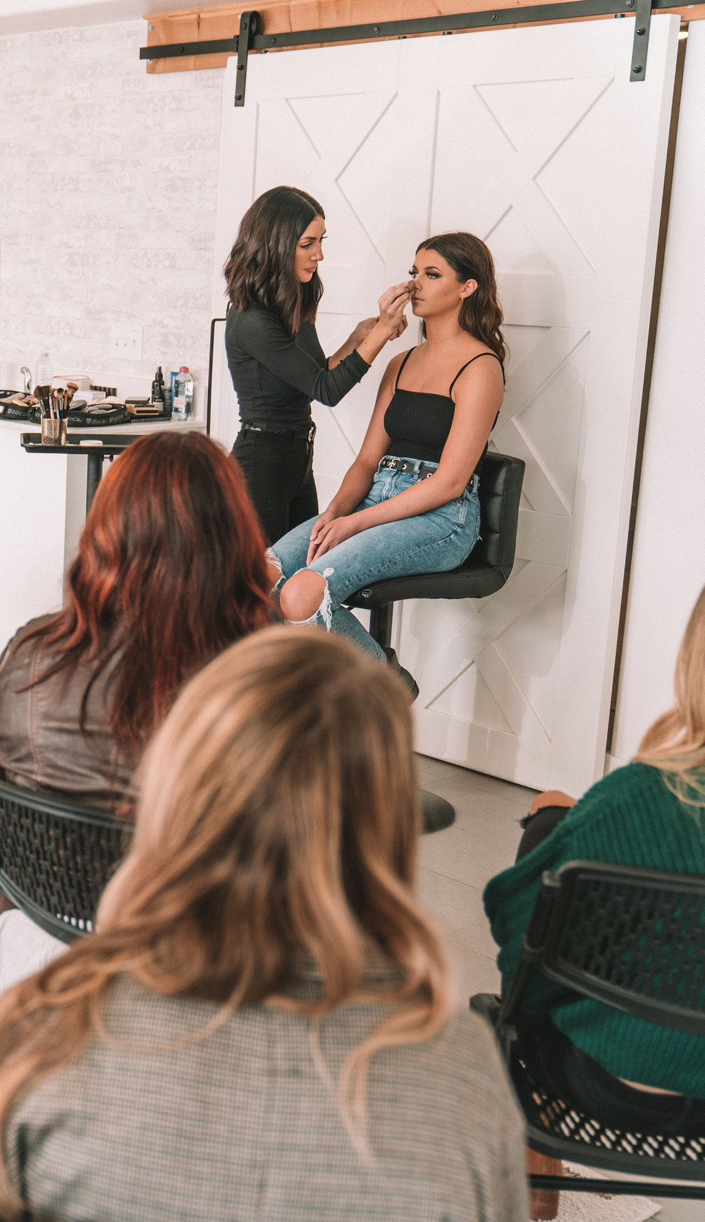 SLC Makeup Class - When: Wednesday, January 23, 201912:00 pm - 4:00 pm MSTWhere: Studio 561561 W 200 SSalt Lake City 84101Price: Early bird price is $150. After 1/16/19 price goes up to $200.About:This class is for working makeup artists, aspiring artists, makeup enthusiasts and anyone who has a passion for makeup and wants to learn new techniques. This is a 4 hour class in which Morgan will perform an in depth demonstration of one of her signature looks as well as a Q & A session. Because Morgan wants this class to be beneficial to all skill levels, she will be going over the basics as well as advanced techniques. She is excited and passionate to share her knowledge and experience in this class and can't wait to help you excel in your makeup career.Topics that will be covered:How to perfectly blend eyeshadow in a flattering way for every eye shape. The brushes, tools and techniques you need to achieve seamless blending.How to apply false lashes and have them blend into natural lashes. The products and tools that will make it an easy application.How to shape and fill in eyebrows to suit the client's face using both brow pencils and powder. You will learn how to set them properly to last all day.How to affectively prep the skin for makeup. You will learn techniques for oily, dry, combination and normal skin types.How to achieve a flawless full coverage base. Morgan will demonstrate her techniques on layering product to get a beautiful airbrush-like finish without looking cakey or heavy.How to sculpt and define the face with contour, bronzer, highlight and blush. How to know how much to apply to give the skin a healthy and luminous color and glow. You will learn with both cream and powder products.How to line and apply lipstick.How to set the face properly for all day wear.More topics will be covered these are just the main points. Morgan will be teaching a signature look all the way from start to finish.This class was designed with makeup artists in mind but that doe