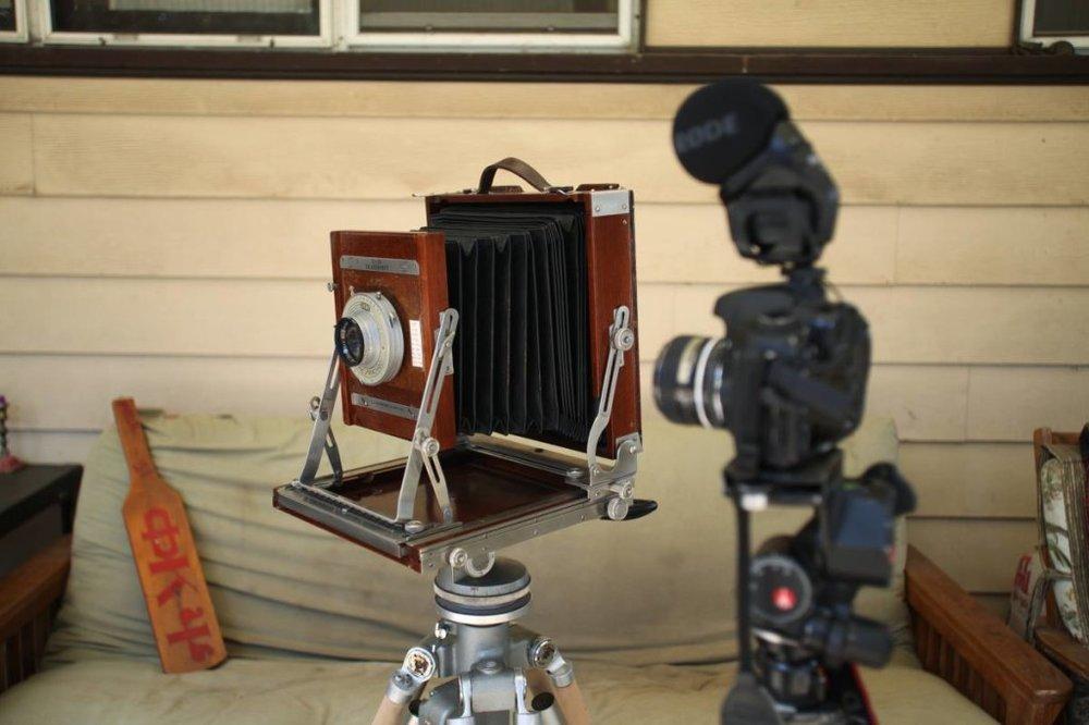 Behind the scenes filming Jake and Oliver Ogden, filming the video for Jake's Kickstarter, November 2014