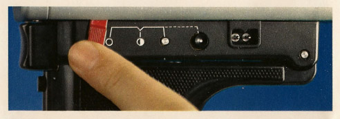 Variable shutter control on a Braun Nizo camera. Image taken from 1973 Nizo brochure.