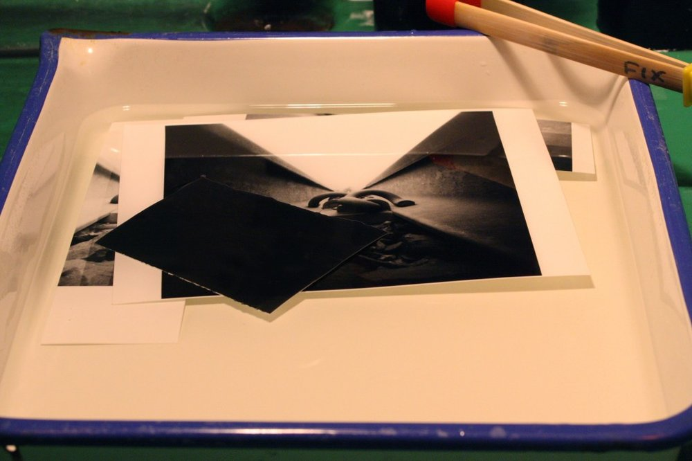 Use your black swatch of paper to ensure a true black in your print.