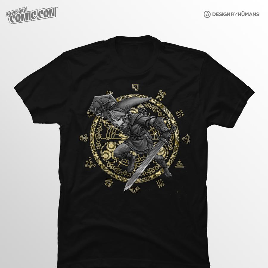 Hero of Hyrule   Nintendo - Gold Foil Print   Men's S - 5XL   $27