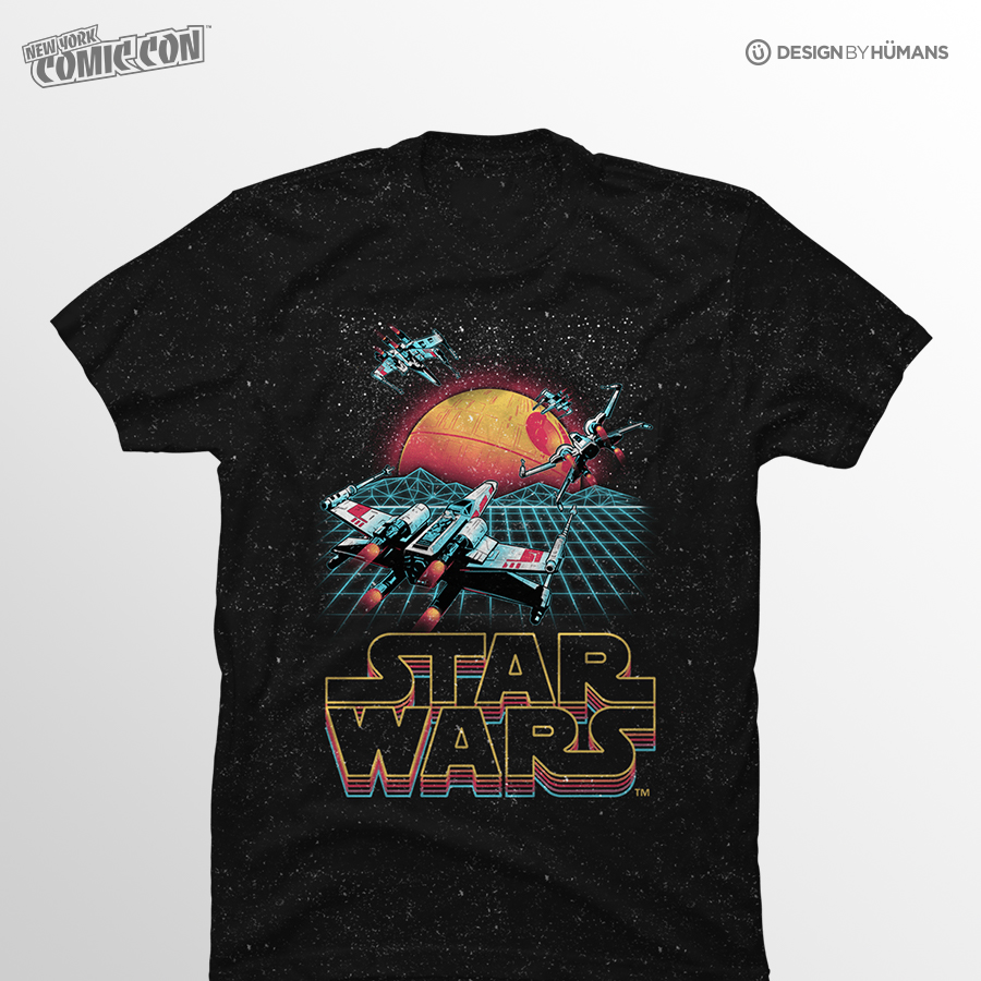 Retro X-Wing   Star Wars - Specialty Confetti TShirt   Men's S - 2XL   $27
