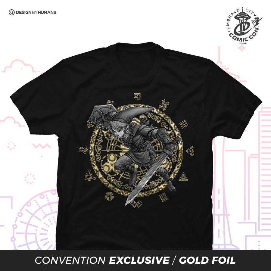 Hero of Hyrule - Men's Tee Gold Foil Print | Men's S - 5XL | $28
