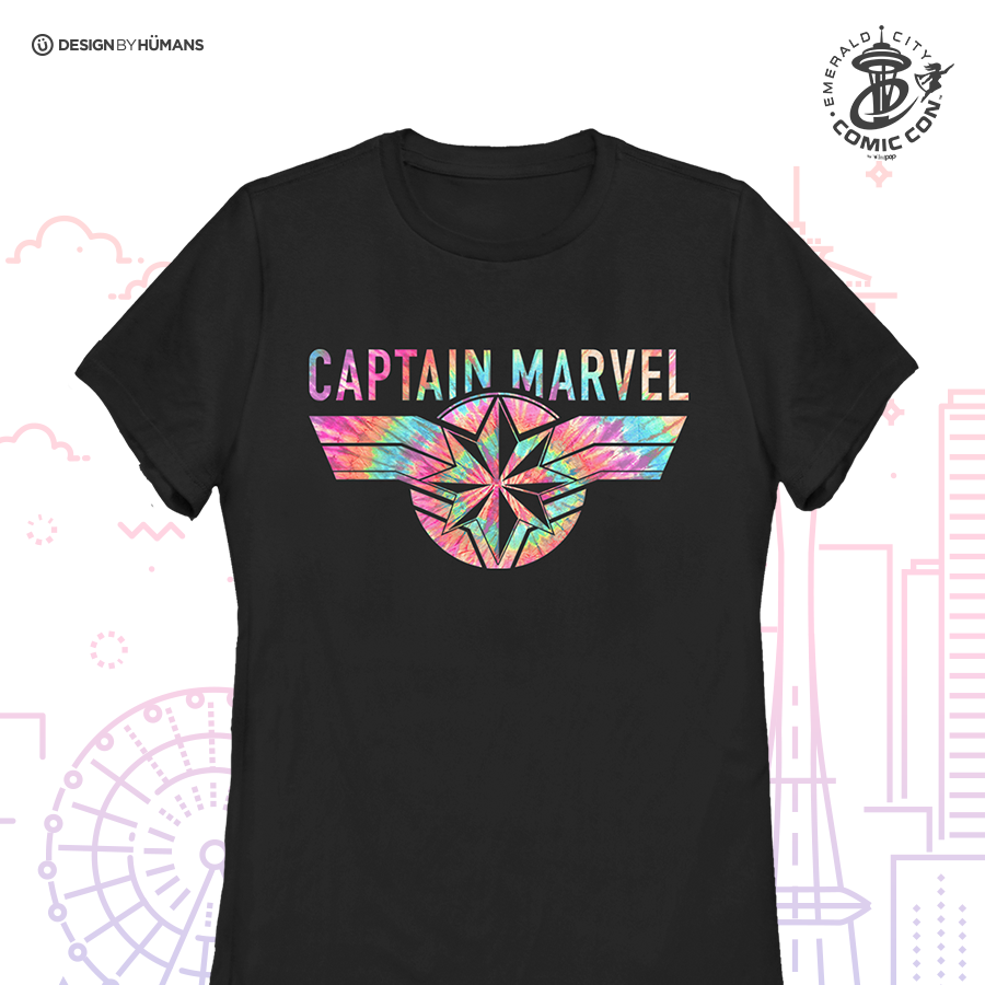 Captain Marvel Tie Dye - Women's Tee | Women's S - 3XL | $28
