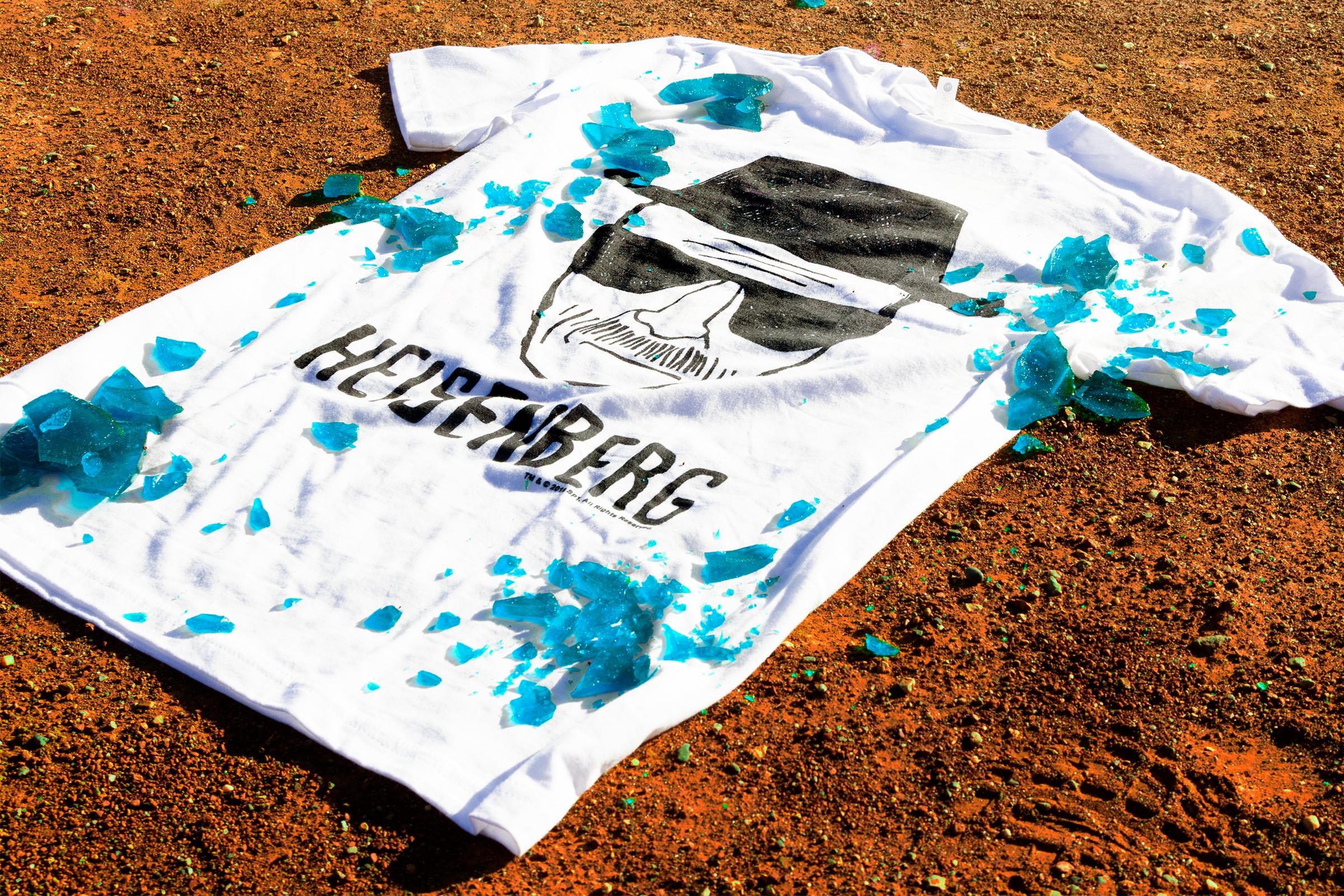 Let/'s Cook T-Shirt Walter Breaking White Blue Sky Meth bad Heisenberg
