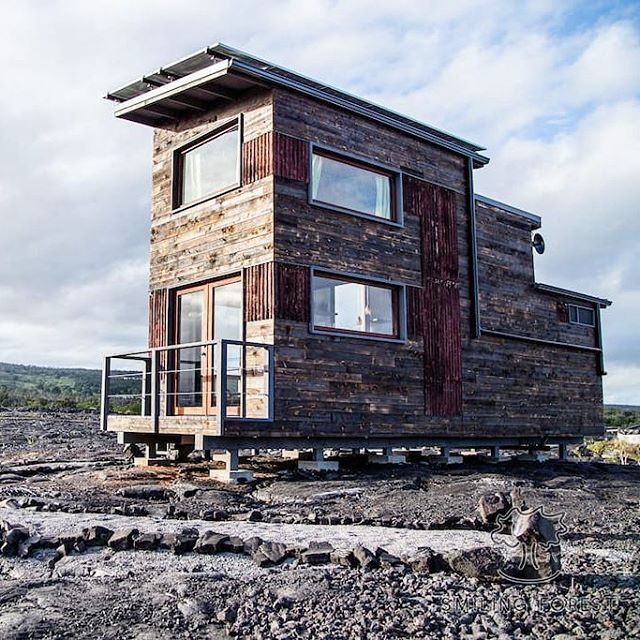 The Phoenix House: a Hawaiian tiny house with views of a volcano 🌋  See more photos and get more details on the blog- link in profile! . . . #tinyhouse #tinyhome #travel #airbnb #hawaii