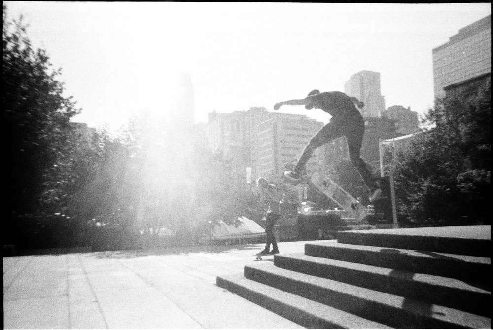 Skater Doing Sweet Jumps  . Lomography Simple Use Camera.