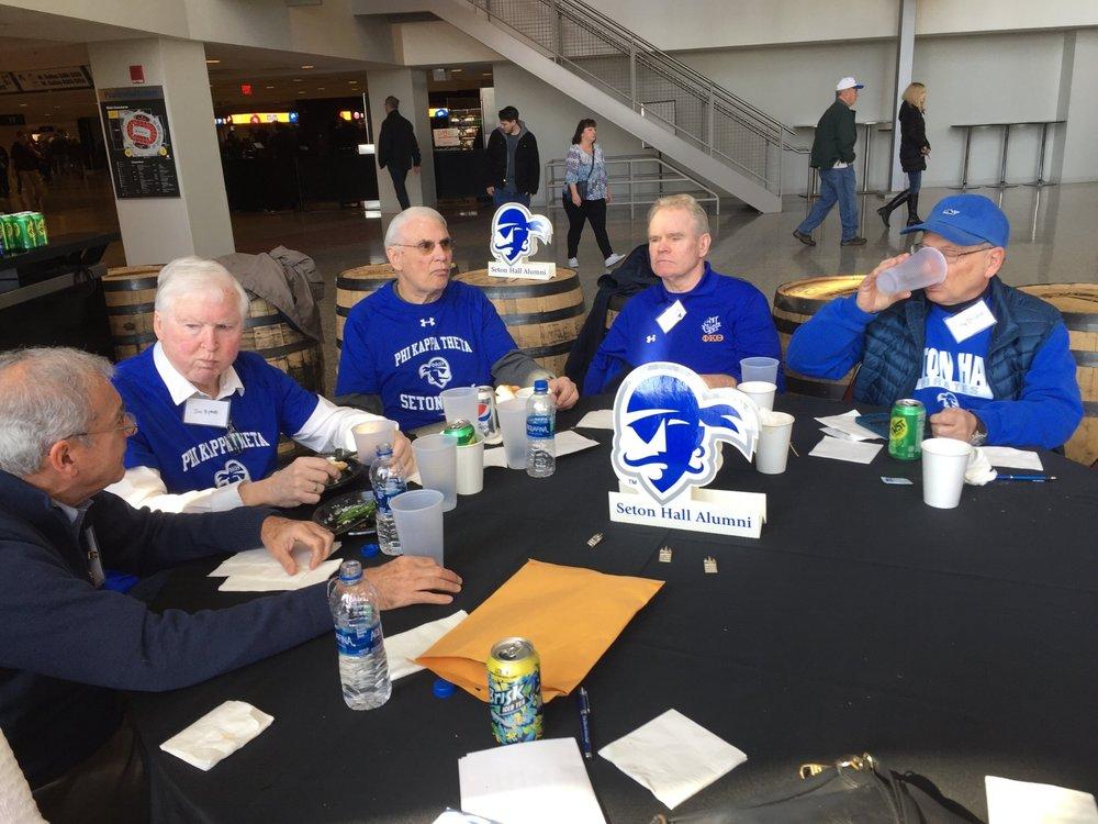 Ron De Cicco '69, Jim Byrne '67, Jim Leber '67, Charlie Dowd '69, Dr. Tony DeNoia '69