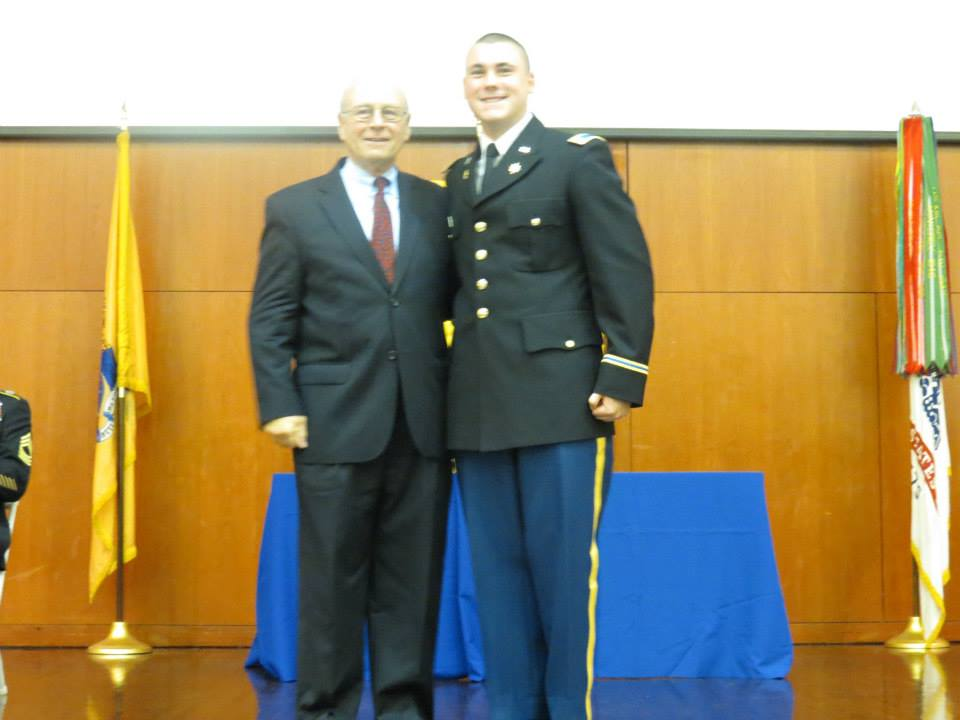 Brian W. Giles '14 with Brother Nicholas Scalera '63