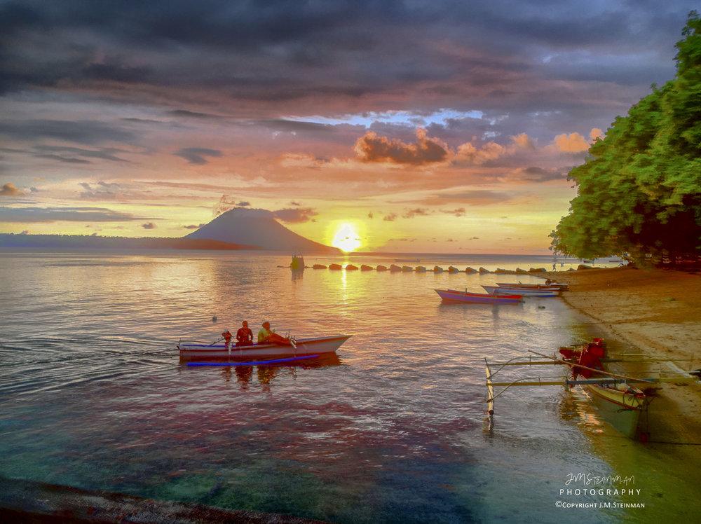 Sunset on Siladen Island, Sulawesi Indonesia