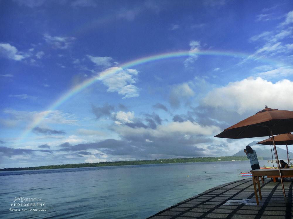 Sunrise on Siladen with Rainbow