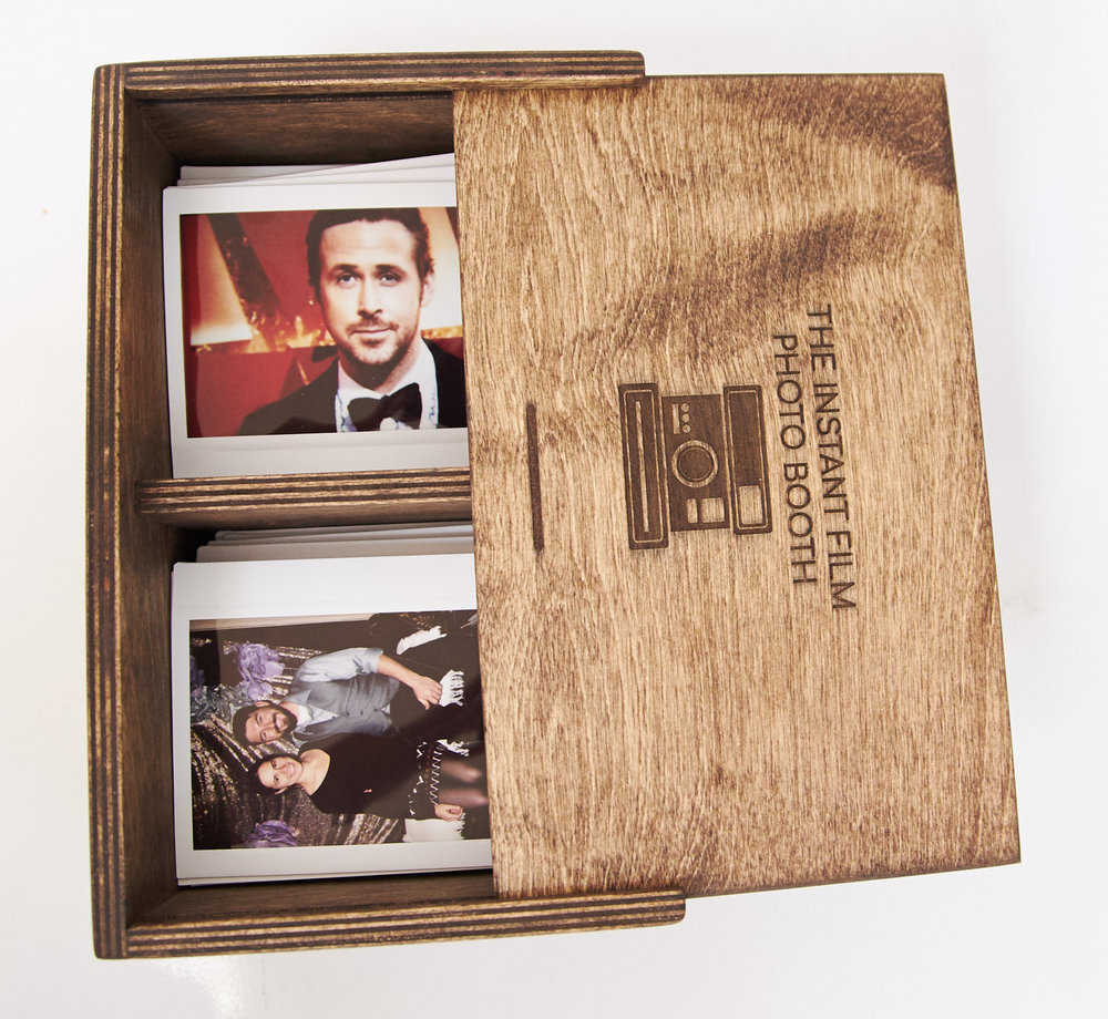 CUSTOM BOX - $85Personalized wood box that holds 140 photos. Choose from five colors.