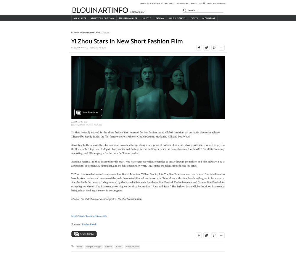 Yi Zhou Stars in New Short Fashion Film _ BLOUIN ARTINFO.png