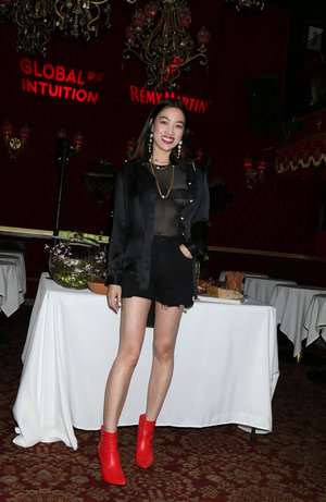 YiZhou celebrates Global Intuition x Remy Martin coachella party at Raspoutine in West Hollywood