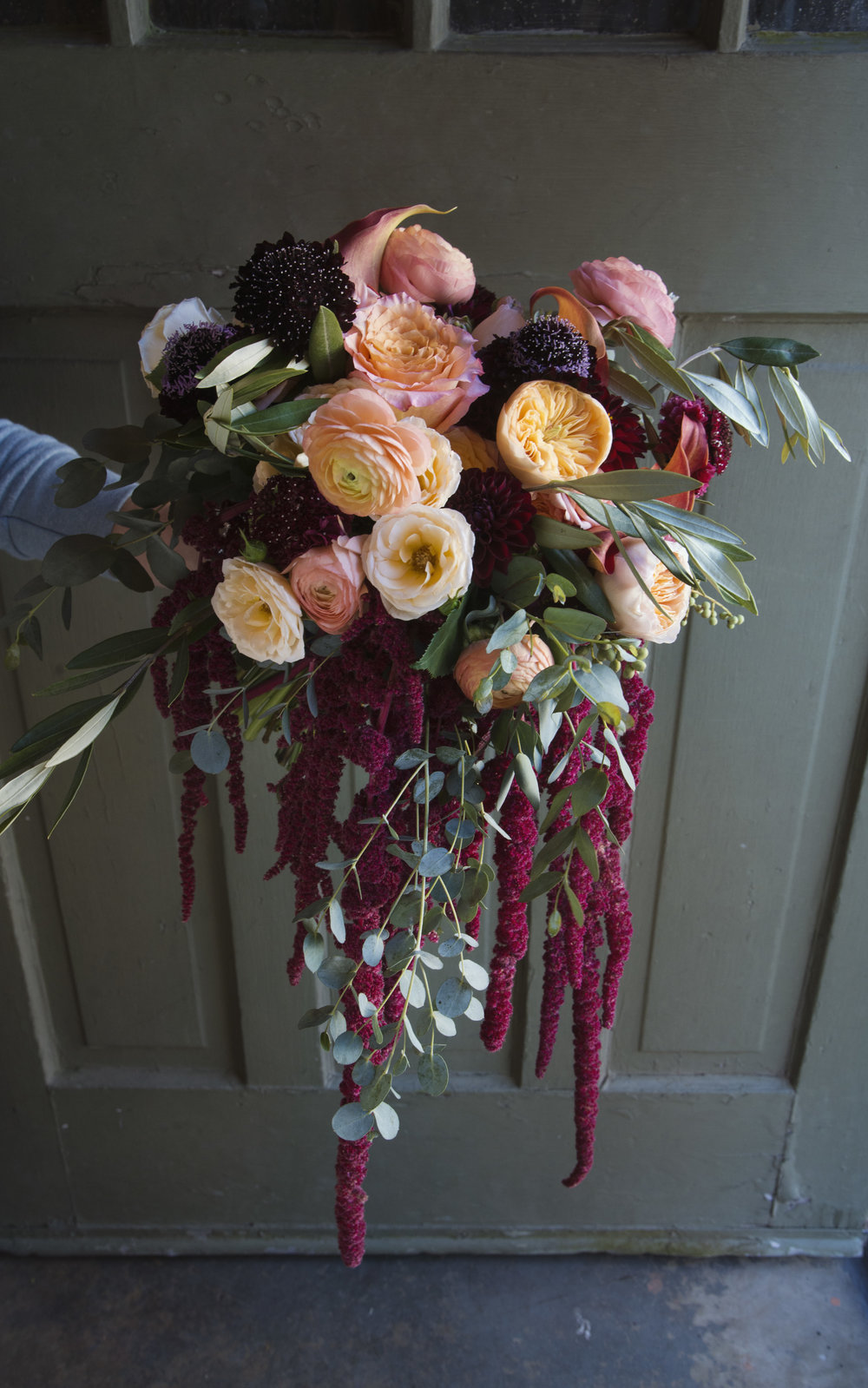 loose cascading bridal bouquet mitchs flowers denys mertz elopement wedding new orleans .jpg