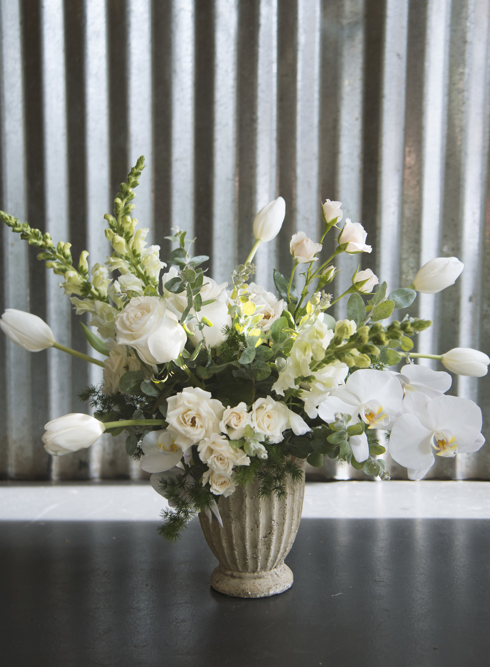 white rustic organic fresh floral arrangement stephanie tarrant new orleans send flower delivery.jpg