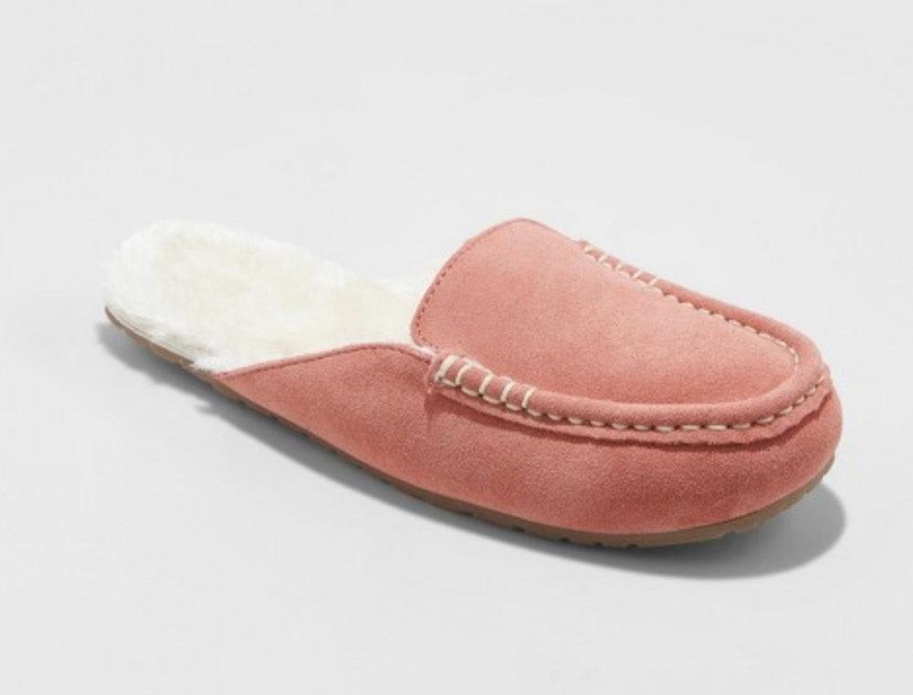 Blush Mule Slippers - @Target $19.99