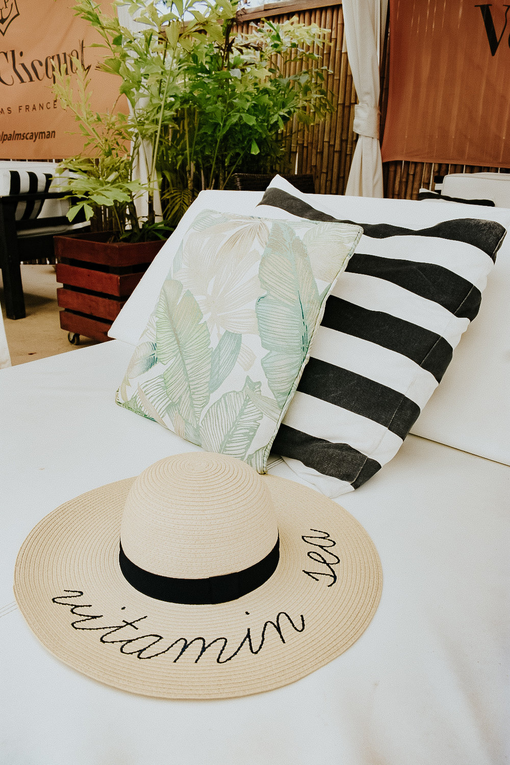 Our cabana at the Royal Palms Beach Club (J Crew hat not included)
