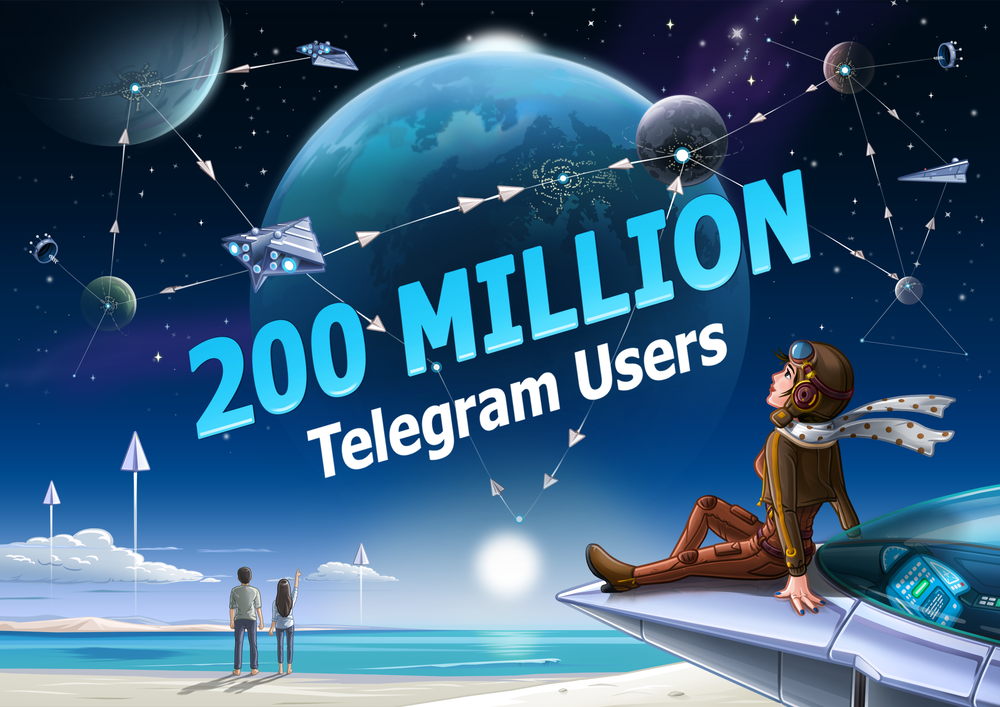 Telegram messaging app reaches 200 million active monthly users