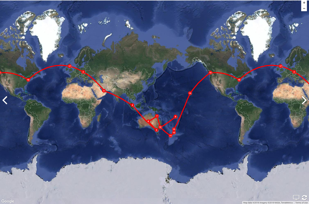 Around the world in 41 days