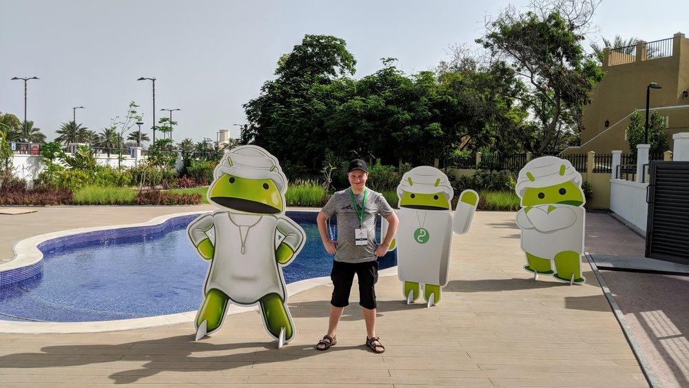 Lukasz at droidcon Dubai 2018. #droidconae #ShotOnPixel2XL