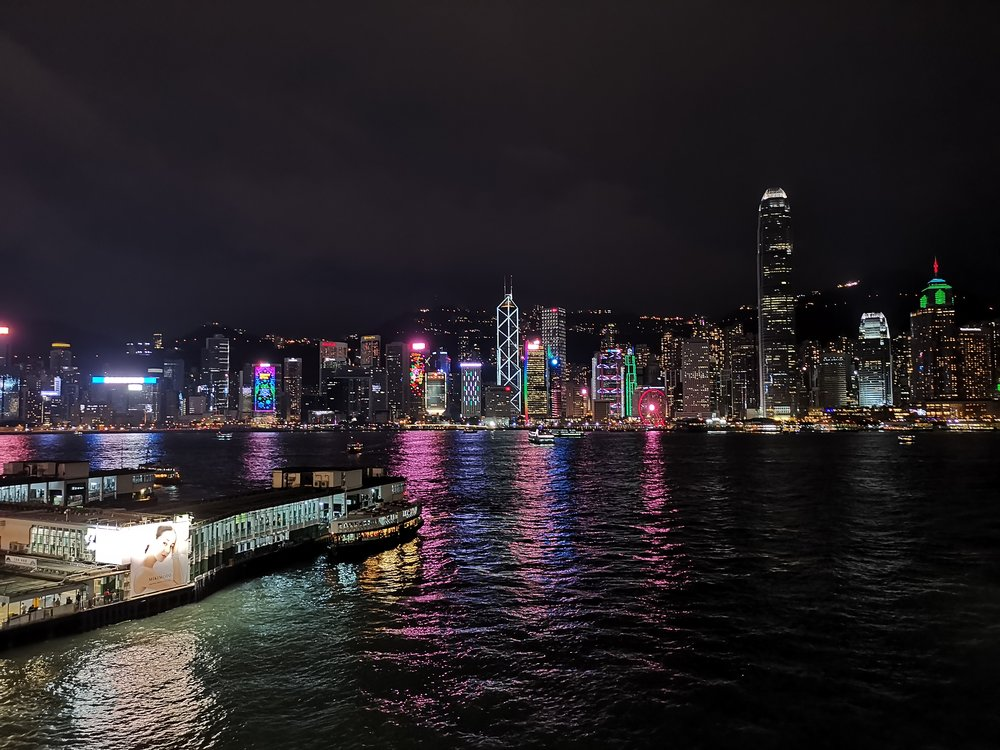 Hong Kong Skyline as seen from Kowloon at night