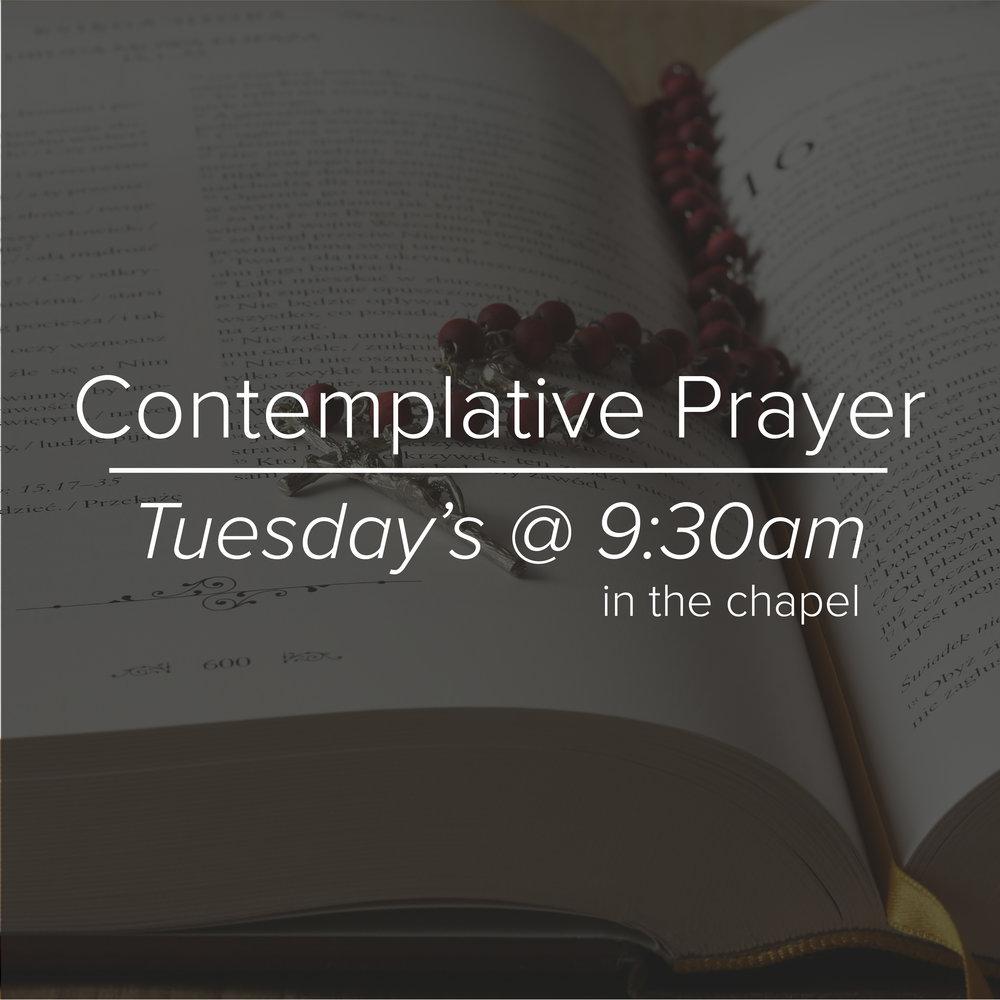ContemplativePrayer Group–Tuesdays at 9:30am–St. Luke's Chapel -