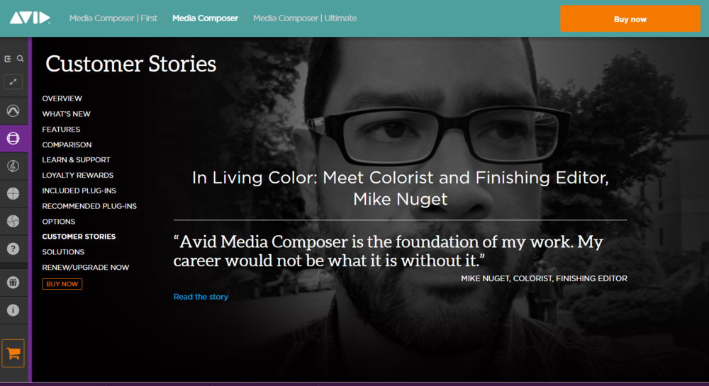 """AVID """"Customer Stories"""" - Feature Article (Sept. 2018) - Avid does a full feature article about Mike's career using Avid Media Composer along with his full career path that led him to this point.(Click image for full article)"""