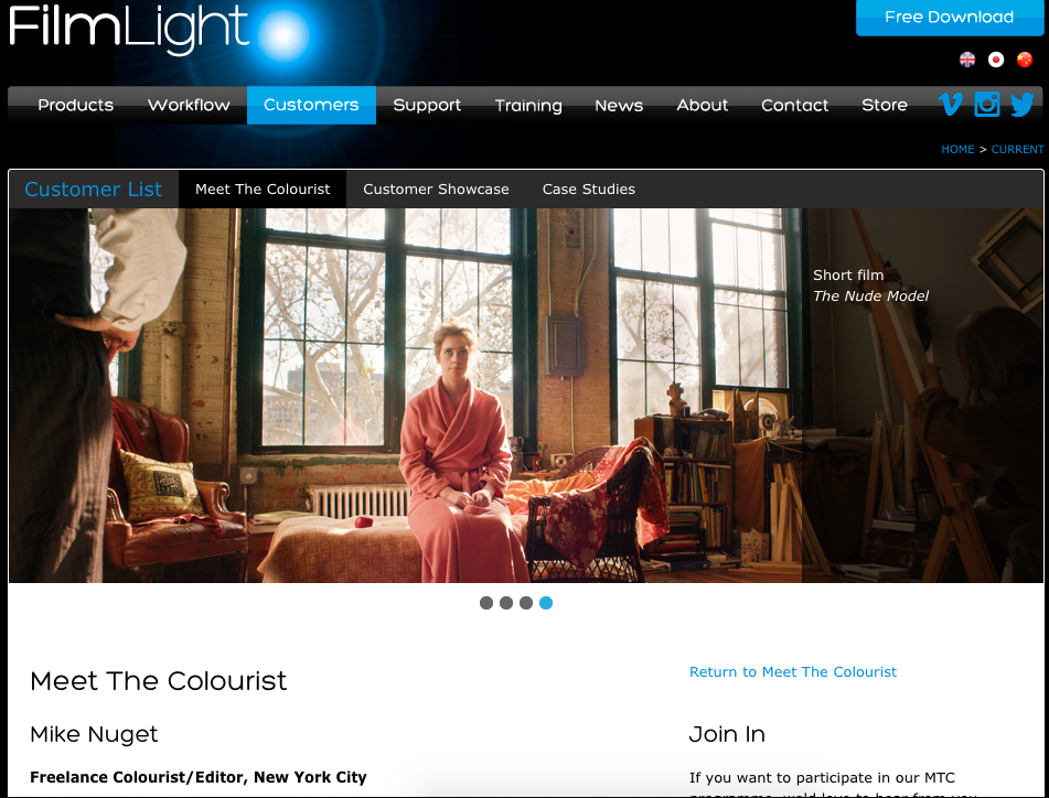 Feature article for FilmLight's