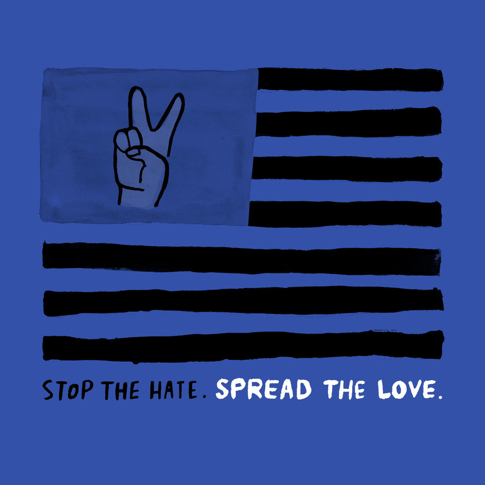 Stop The Hate. Spread The Love Print_Alessandra Olanow.jpg