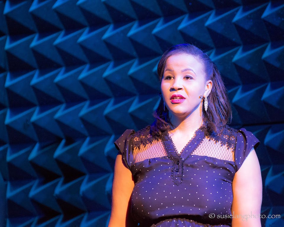 Anya Pearson as the Lady of Utmost Perseverance in the Showcase Production at Joe's Pub at The Public Theater in April 2018. Photo: Susie Lang