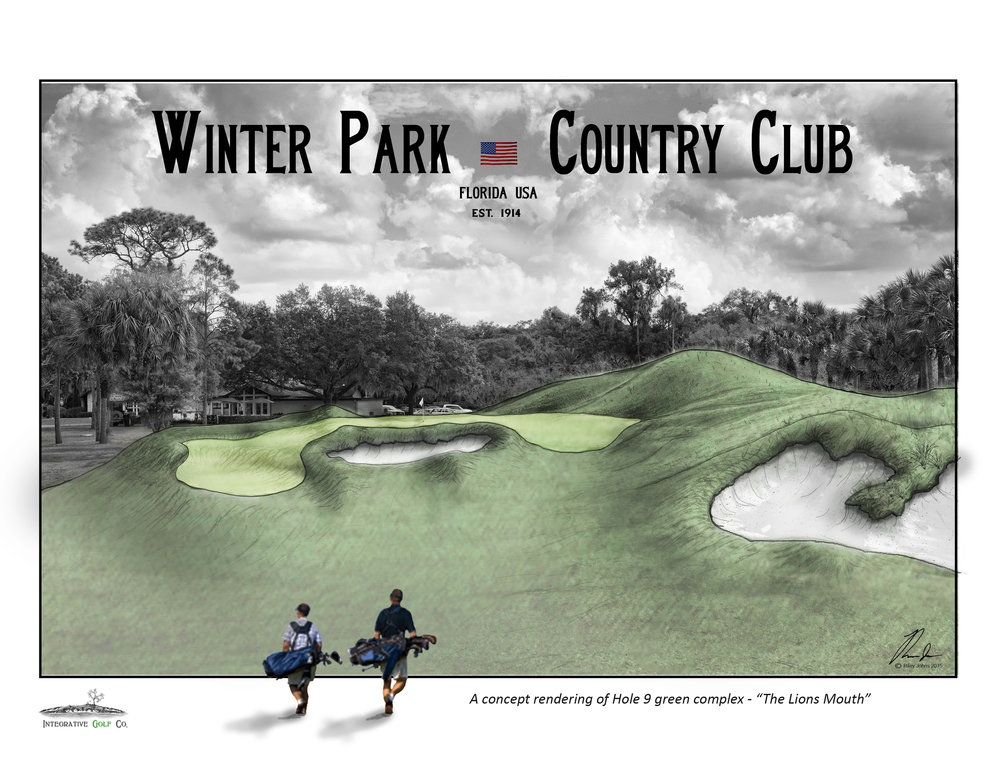 Hole 9 Concept Rendering
