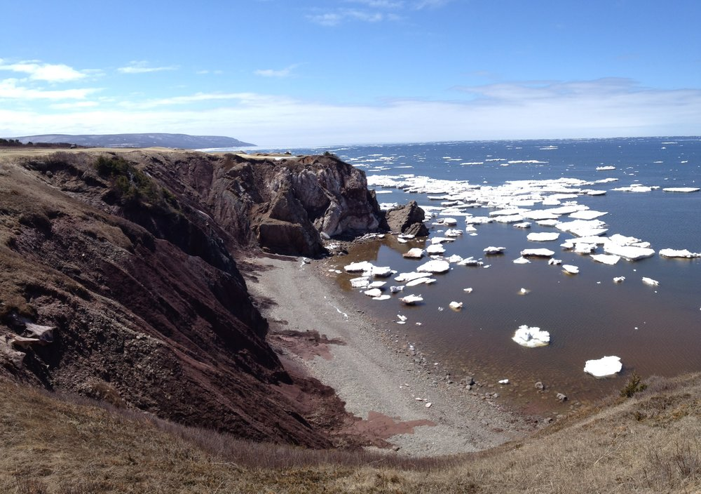 Winter finally begins to give way to Spring at Cabot Cliffs.